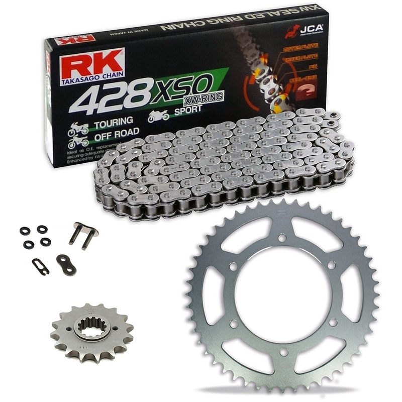 Sprockets & Chain Kit RK 428 XSO Steel Black HONDA CT 100 81-86