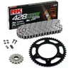 Sprockets & Chain Kit RK 428 XSO Reinforced Black Steel HONDA NX 125 Transcity 89-98
