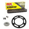 Sprockets & Chain Kit RK 428 HSB Black Steel HONDA XR 125 03-07