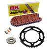Sprockets & Chain Kit RK 428SB Orange HONDA XR 125 03-07