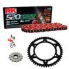 Sprockets & Chain Kit RK 520 XSO Red HONDA CB 200 76-79