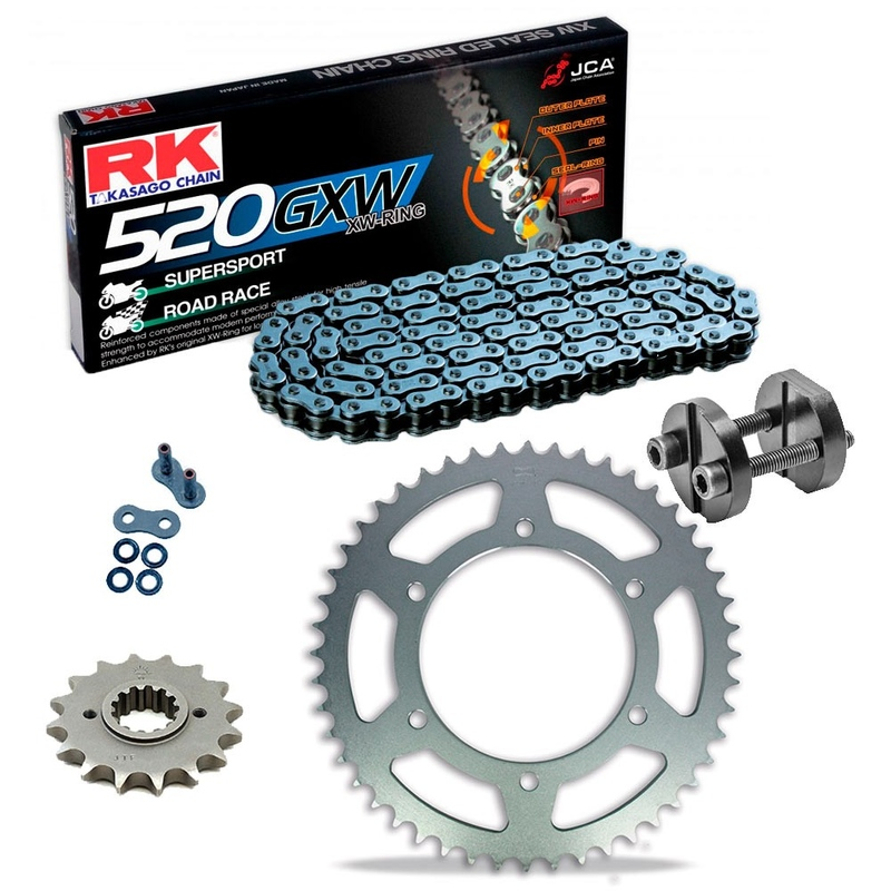 Sprockets & Chain Kit RK 520 GXW  Grey Steel HONDA CBR 600 F OC35 Conversion 520 01 Free Riveter!