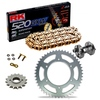 Sprockets & Chain Kit RK 520 GXW  Gold HONDA CBR 600 F OC35 Conversion 520 01 Free Riveter!