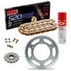 Sprockets & Chain Kit RK 520 GXW Gold HONDA CBR 600 F OC35 Conversion 520 01
