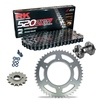 Sprockets & Chain Kit RK 520 ZXW Grey Steel HONDA CBR 600 F OC35 Conversion 520 01 Free Riveter