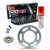 Sprockets & Chain Kit RK 520 ZXW Grey Steel HONDA CBR 600 F OC35 Conversion 520 01
