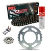 Sprockets & Chain Kit RK 520 ZXW Black/Gold HONDA CBR 600 F OC35 Conversion 520 01