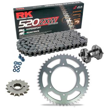 Sprockets & Chain Kit RK 520 ZXW Grey Steel HONDA CBR 600 RR Conversion 520 03-16 Free Riveter