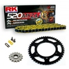 Sprockets & Chain Kit RK 520 MXZ4 Yellow HONDA CR 250 04
