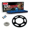 Sprockets & Chain Kit RK 520 MXZ4 Blue HONDA CR 250 04