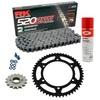 Sprockets & Chain Kit RK 520 ZXW Grey Steel HONDA NC 700 D Integra 12-13