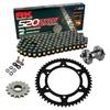 Sprockets & Chain Kit RK 520 ZXW Black/Gold HONDA NC 700 D Integra 12-13 Free Riveter