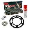 Sprockets & Chain Kit RK 520 ZXW Black/Gold HONDA NC 700 D Integra 12-13