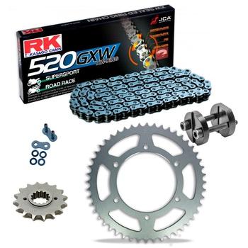 Sprockets & Chain Kit RK 520 GXW  Grey Steel HONDA NC 700 S-X 12-13 Free Riveter!
