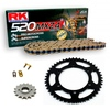 Sprockets & Chain Kit RK 520 MXZ4 Gold HONDA TRX 400 Sportrax 05-08