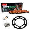 Sprockets & Chain Kit RK 520 XSO Orange HONDA Varadero XL 125 V 01-13