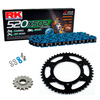 Sprockets & Chain Kit RK 520 XSO Blue HONDA XL 200 Paris-Dakar 84-90