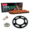 Sprockets & Chain Kit RK 520 XSO Orange HONDA XL 200 Paris-Dakar 84-90