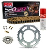 Sprockets & Chain Kit RK 520 EXW Gold HONDA XL 400 R 82
