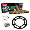 Sprockets & Chain Kit RK 520 XSO Gold HONDA XR 200 80-81