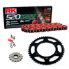 Sprockets & Chain Kit RK 520 XSO Red HONDA XR 200 80-81