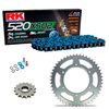 Sprockets & Chain Kit RK 520 XSO Blue HONDA XR 250 88-89