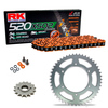 Sprockets & Chain Kit RK 520 XSO Orange HONDA XR 250 88-89