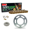Sprockets & Chain Kit RK 520 XSO Gold HONDA XR 250 88-89