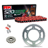 Sprockets & Chain Kit RK 520 XSO Red HONDA XR 250 88-89