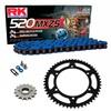 Sprockets & Chain Kit RK 520 MXZ4 Blue HONDA XR 650 00-07