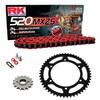 Sprockets & Chain Kit RK 520 MXZ4 Red HONDA XR 650 00-07