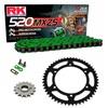 Sprockets & Chain Kit RK 520 MXZ4 Green HONDA XR 650 00-07