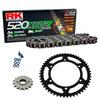 Sprockets & Chain Kit RK 520 XSO Black Steel HONDA XR 650 L 93-16