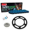 Sprockets & Chain Kit RK 520 XSO Blue HONDA XR 650 L 93-16