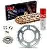 Sprockets & Chain Kit RK 525 GXW Gold HONDA XRV 750 Africa Twin RD04 90-92