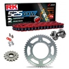 Sprockets & Chain Kit RK 525 GXW Red HONDA XRV 750 Africa Twin RD04 90-92 Free Riveter!