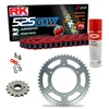 Sprockets & Chain Kit RK 525 GXW Red HONDA XRV 750 Africa Twin RD04 90-92