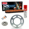 Sprockets & Chain Kit RK 525 GXW Orange HONDA CB 350 86-88