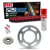 Sprockets & Chain Kit RK 525 GXW Red HONDA CB 350 86-88