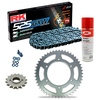 Sprockets & Chain Kit RK 525 GXW Grey Steel HONDA CB 400 F 91