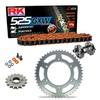 Sprockets & Chain Kit RK 525 GXW Orange HONDA CB 400 F 91 Free Riveter!