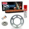 Sprockets & Chain Kit RK 525 GXW Orange HONDA CB 400 F 91