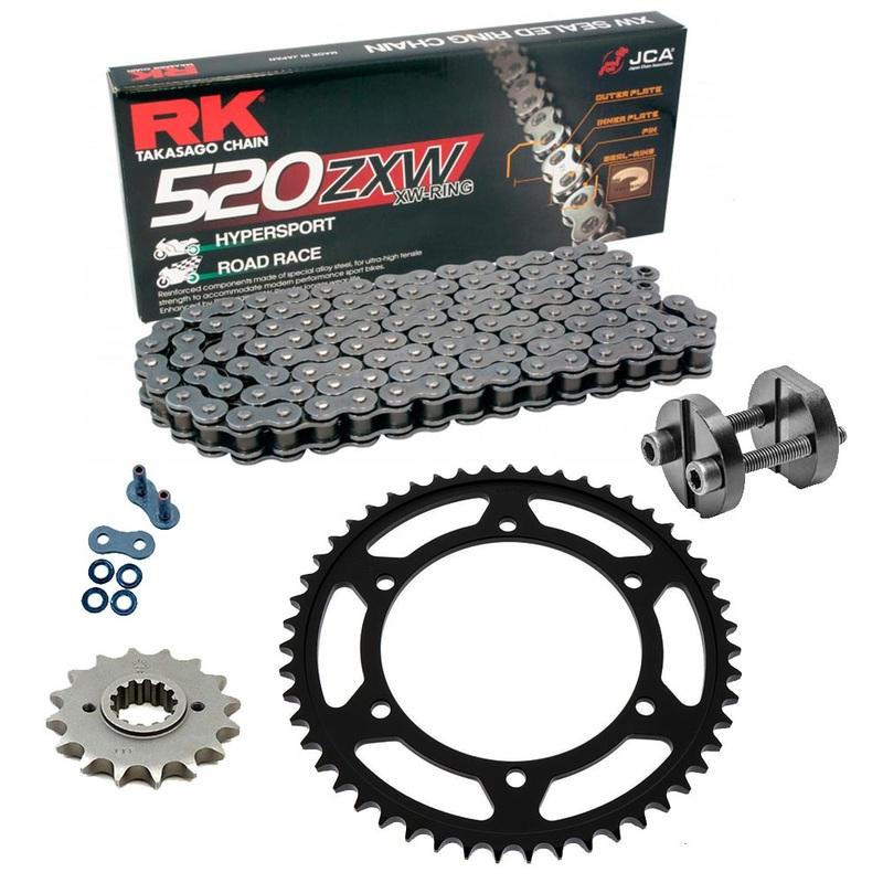 Sprockets & Chain Kit RK 520 ZXW Grey Steel HONDA CTX 700 DCT 14-16 Free Riveter