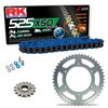 Sprockets & Chain Kit RK 525 XSO Blue HONDA CBR 600 F OC35 01