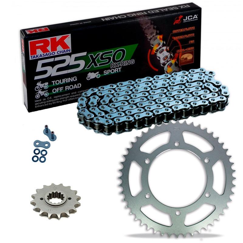 Sprockets & Chain Kit RK 525 XSO Steel Grey HONDA CBR 600 F OC35 01