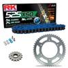 Sprockets & Chain Kit RK 525 XSO Blue HONDA XBR 500 42PS 85-86