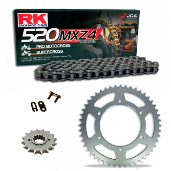 Sprockets & Chain Kit RK 520 MXZ4 Black Steel HUSABERG FC 350 96