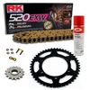 Sprockets & Chain Kit RK 520 EXW Gold HUSABERG FC 350 6 MARCHAS 00-01