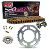 Sprockets & Chain Kit RK 520 EXW Gold HUSABERG FC 400 97-99 Free Riveter