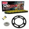 Sprockets & Chain Kit RK 520 MXZ4 Yellow HUSABERG FC 400 4 MARCHAS 00-01